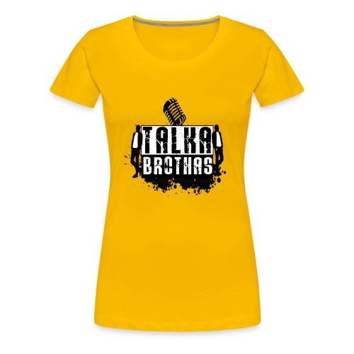 Talka Brothas Splash Logo - Women's Premium T-Shirt