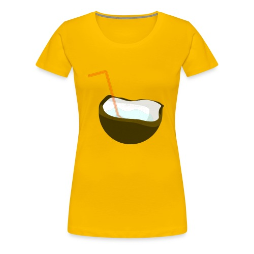 coconut water - Women's Premium T-Shirt