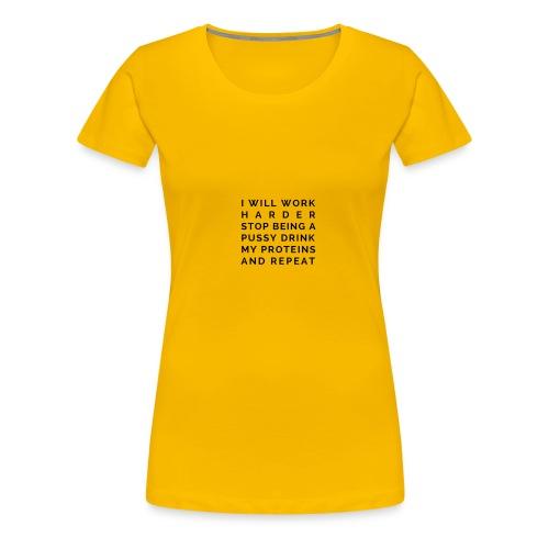 The White Gym Pledge - Women's Premium T-Shirt