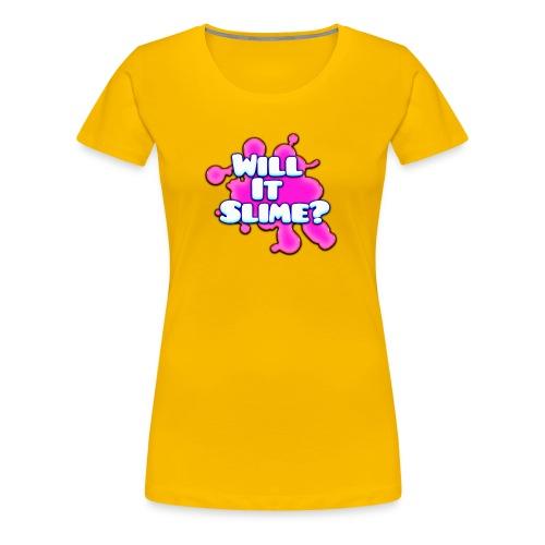 Pink Will It Slime Logo - Women's Premium T-Shirt