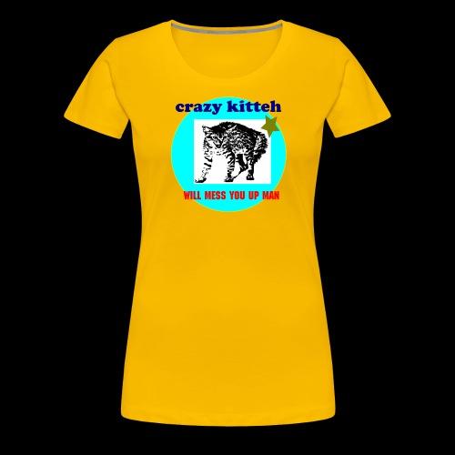 crazy kitteh - Women's Premium T-Shirt