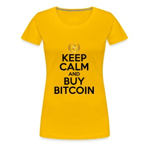 KEEP CALM AND BUY BITCOINS BTC Crypto Shirt - Women's Premium T-Shirt