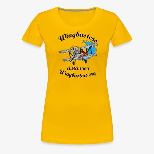 Wingbusters Black Logo - Women's Premium T-Shirt