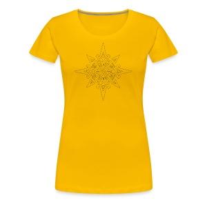 inca sun symbol contour - Women's Premium T-Shirt