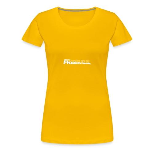 GK Freeride White Logo - Women's Premium T-Shirt