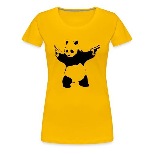 Shoot Em Up Panda - Women's Premium T-Shirt