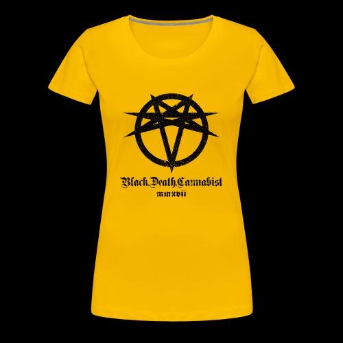 BlackDeathCannabist Logo - Women's Premium T-Shirt