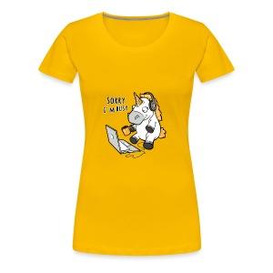 Sorry i'm busy, funny unicorn, music T Shirt - Women's Premium T-Shirt