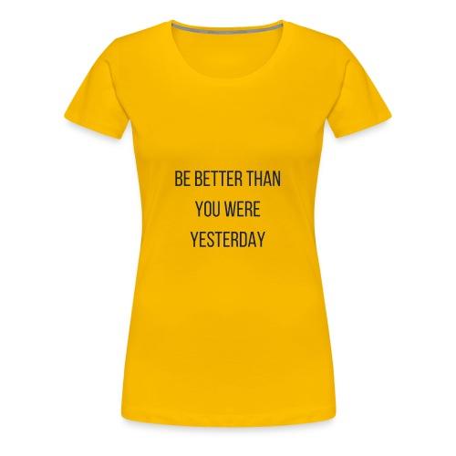 Work Out Apparel - Women's Premium T-Shirt