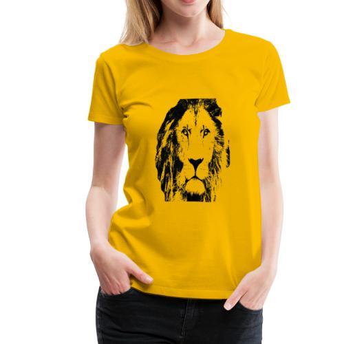 Lion FACE - Women's Premium T-Shirt