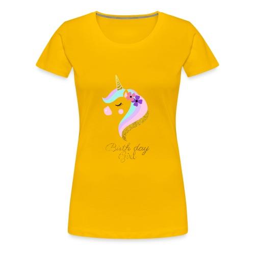 CUTE unicorn birthday GIRL - Women's Premium T-Shirt