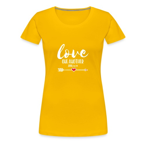 Love One Another, Christian Design - Women's Premium T-Shirt