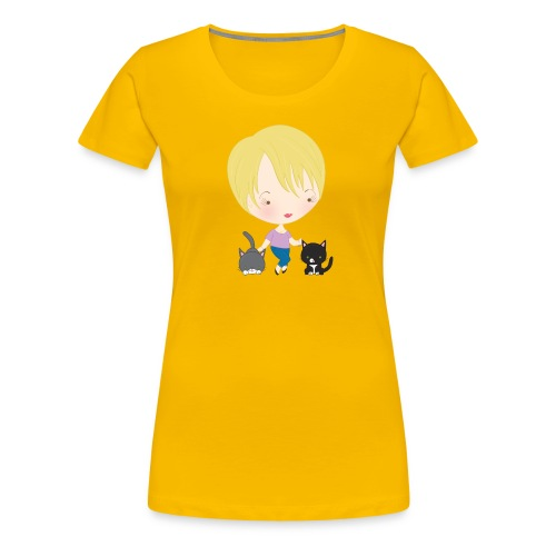 Mommy Spats and Merri - Women's Premium T-Shirt