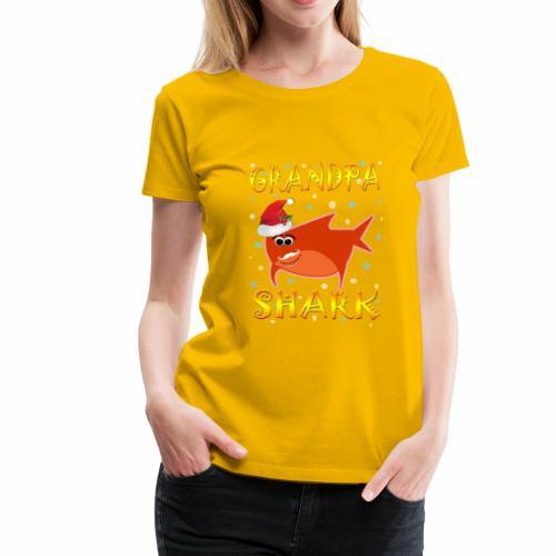 Grandpa Shark Christmas Design Gift Idea - Women's Premium T-Shirt