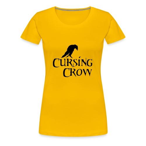 Cursing Crow Logo - Women's Premium T-Shirt
