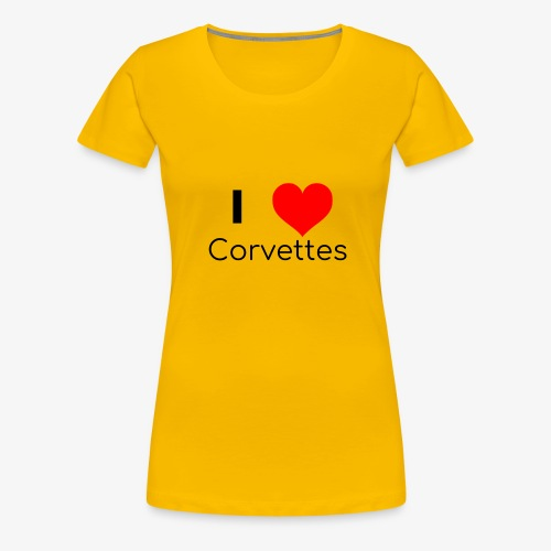 I luv Corvettes - Women's Premium T-Shirt