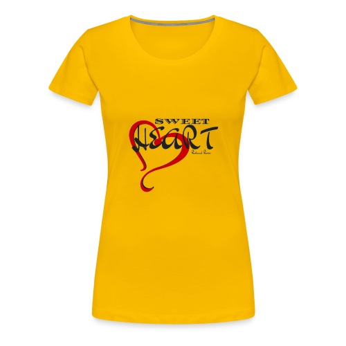 SWEETHEART BLACK & RED by: Roland Ross - Women's Premium T-Shirt