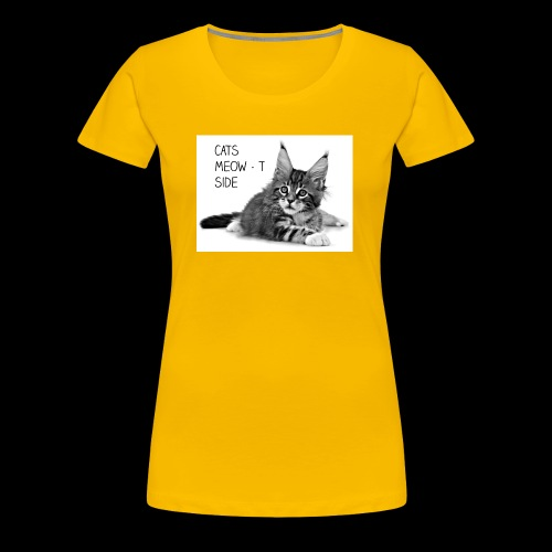 Cats Meow-t Side - Women's Premium T-Shirt