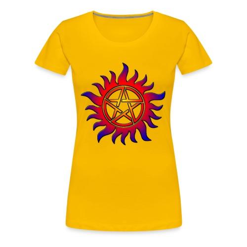 Anti Possession Symbol Sun Fire - Women's Premium T-Shirt
