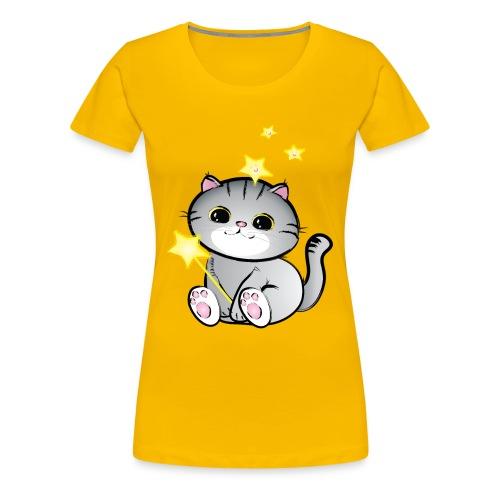lucky chibi cat - Women's Premium T-Shirt