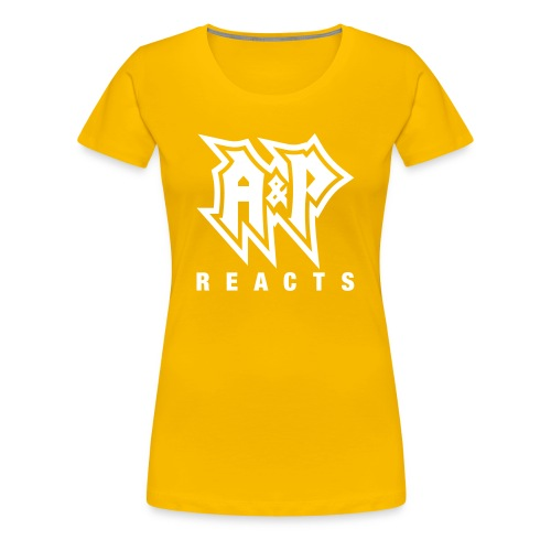 A&P-Reacts Logo (White) - Women's Premium T-Shirt
