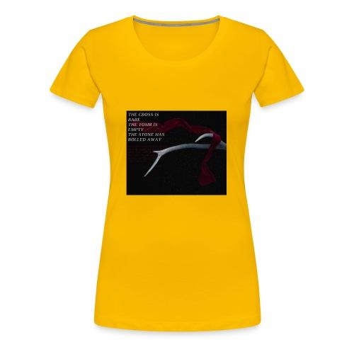 The cross is bare - Women's Premium T-Shirt