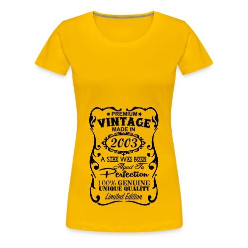 2003 - Women's Premium T-Shirt