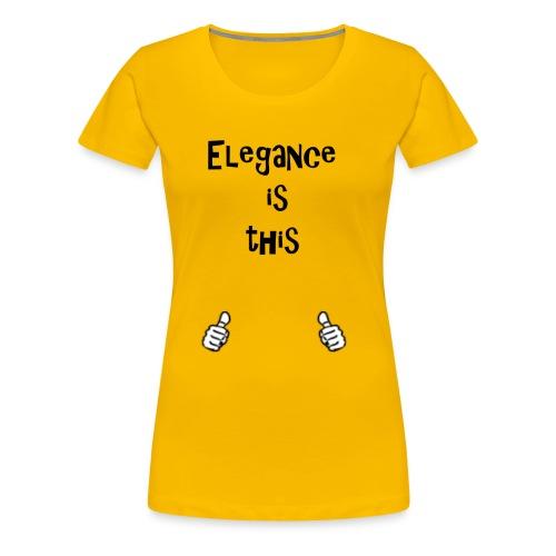 Elegance - Women's Premium T-Shirt
