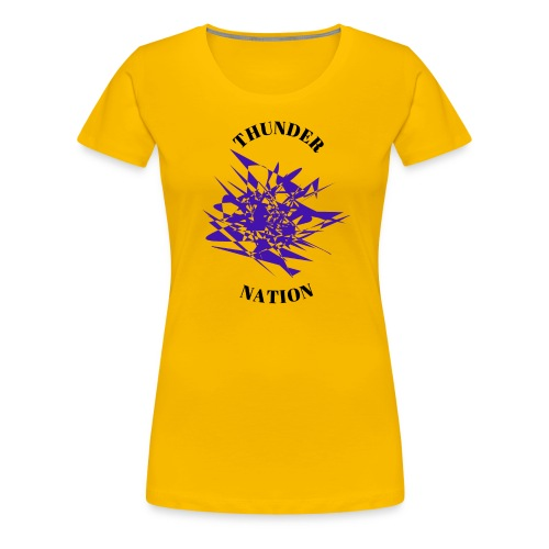 Thunder Nation Purple Star - Women's Premium T-Shirt