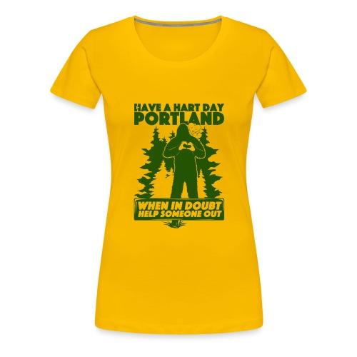 Have A Hart Day Portland - Button Pack - Women's Premium T-Shirt