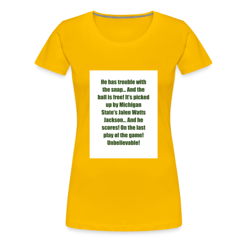 He_has_trouble_with_the_snap-1 - Women's Premium T-Shirt