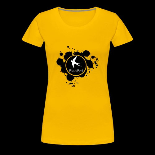 BlackBird Ink Spill Logo - Women's Premium T-Shirt