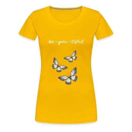 Be • You • Tiful Tank (Grey Tip Wings)-white font - Women's Premium T-Shirt