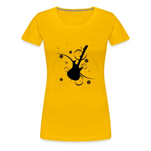 Floral Gitarre - Women's Premium T-Shirt