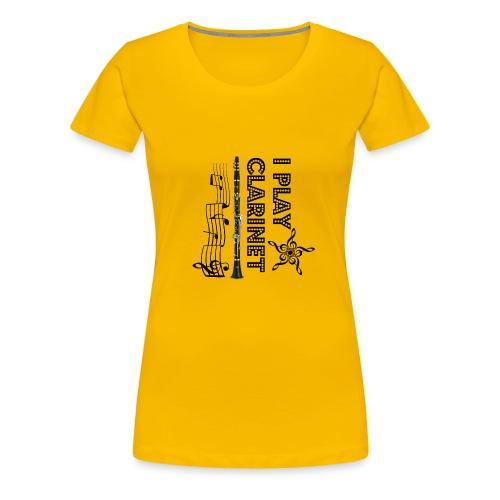 i play clarinet - Women's Premium T-Shirt