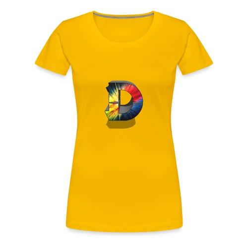 D Logo Colorful - Women's Premium T-Shirt