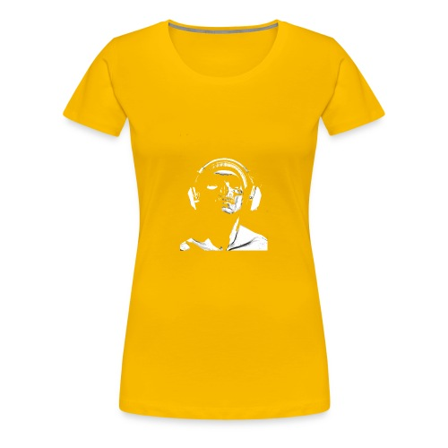 Front Skull Headphones - Women's Premium T-Shirt