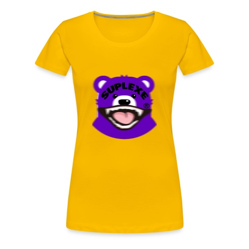 PURPLE {BLUR} BE@R x BADGER TEE - Women's Premium T-Shirt