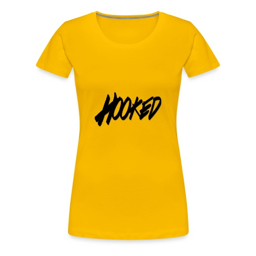 Hooked black logo - Women's Premium T-Shirt