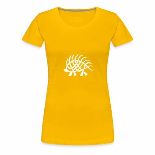 Boar Knot - White - Women's Premium T-Shirt