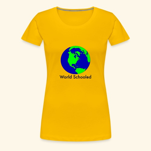 World Schooled - Women's Premium T-Shirt