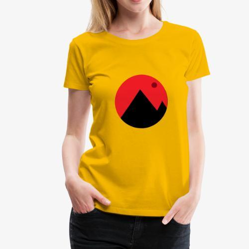 Mountain and the moon - Women's Premium T-Shirt