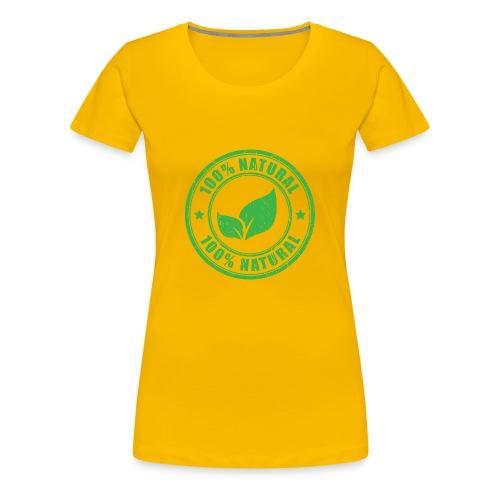 100 natural Organic Crunchy - Women's Premium T-Shirt