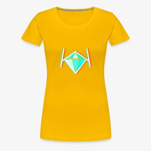 3D KK Diamond Logo - Women's Premium T-Shirt