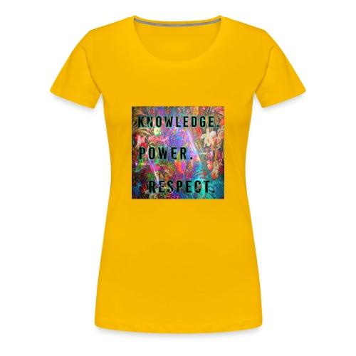 Knowledge Power Respect - Women's Premium T-Shirt