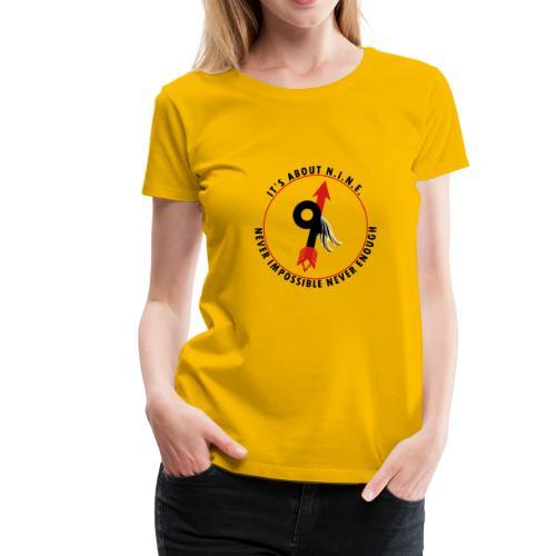 NINE Logo with Wings - Women's Premium T-Shirt