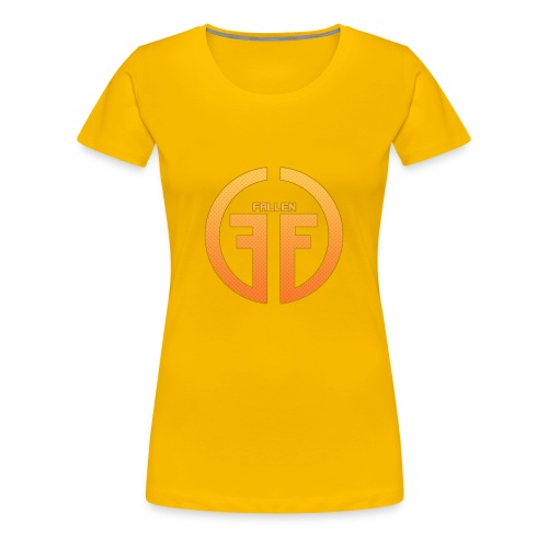 Fallen Esports Yellow Design - Women's Premium T-Shirt