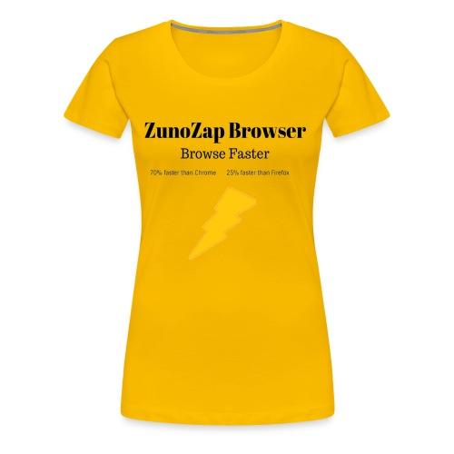 ZunoZap Merch (2nt design) - Women's Premium T-Shirt