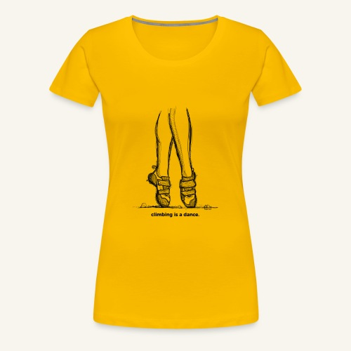 Climbing is a dance - Women's Premium T-Shirt