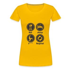 Eat Sleep F Repeat - Women's Premium T-Shirt